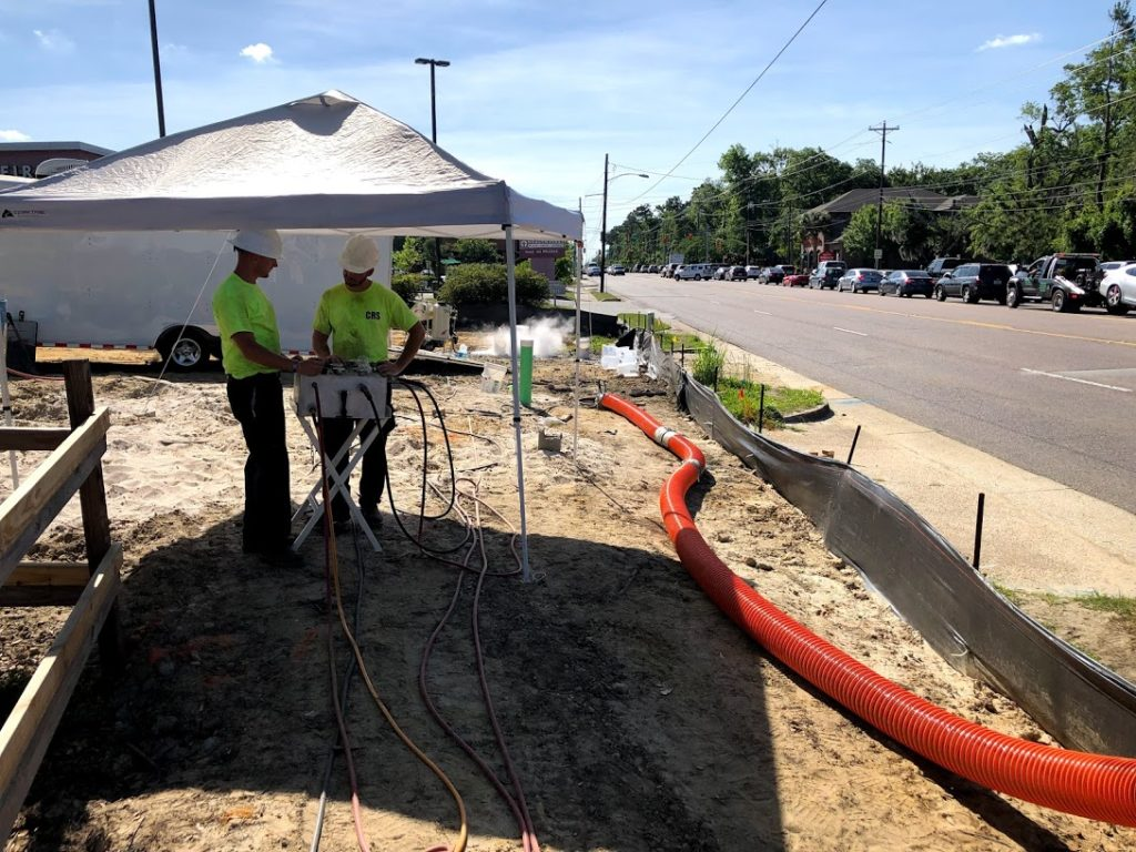 CRS trenchless sewer pipe relining Charleston SC